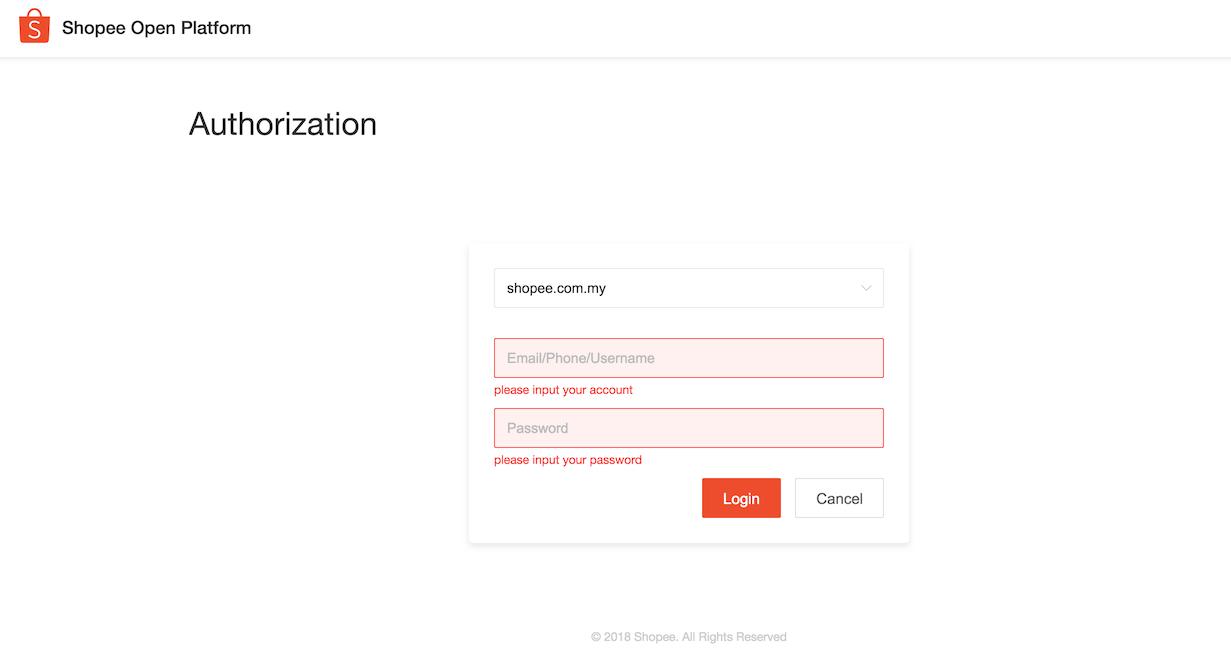 Shopee Authorization